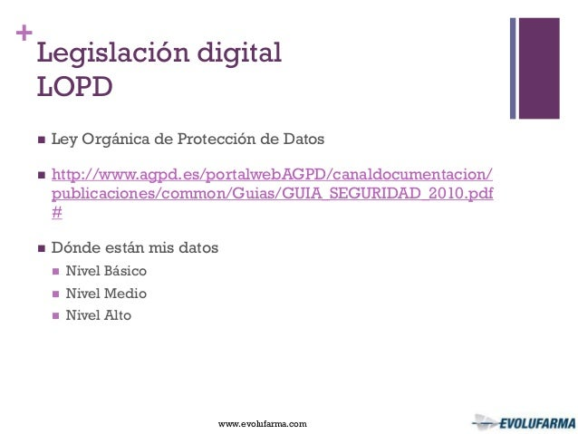 Ponencia el ecommerce en la oficina de farmacia for Oficina proteccion datos
