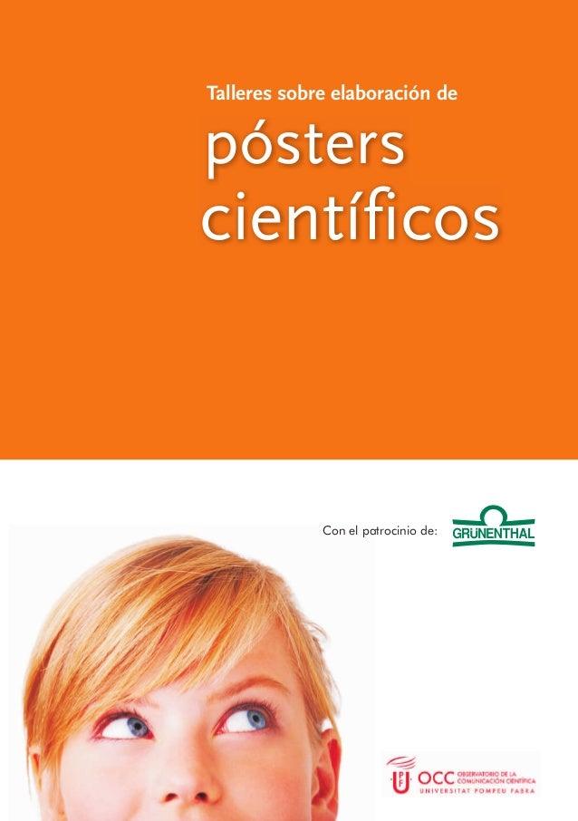 pósters Talleres sobre elaboración de científicos Con el patrocinio de: