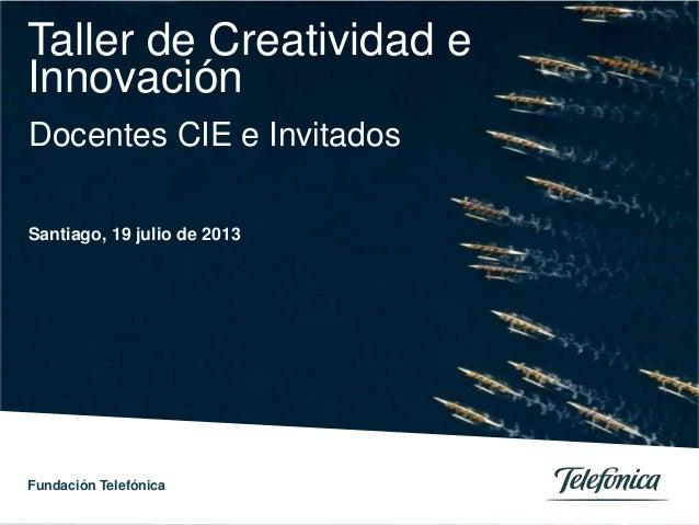Fundación Telefónica 0 0 Telefónica Servicios Audiovisuales S.A. / Telefónica España S.A. Título de la ponencia / Otros da...