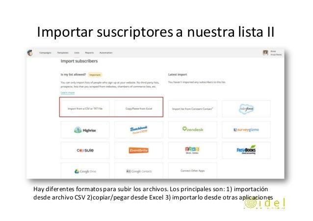 taller email marketing con mailchimp idel sl. Black Bedroom Furniture Sets. Home Design Ideas