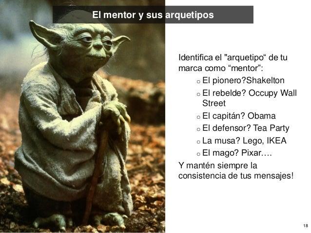 """El mentor y sus arquetipos                  Identifica el """"arquetipo"""" de tu                  marca como """"mentor"""":         ..."""