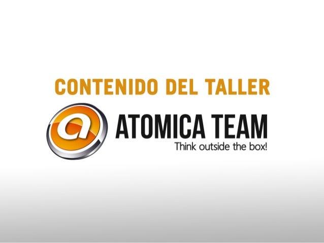Contenido curso #socialmedia Atomica Team