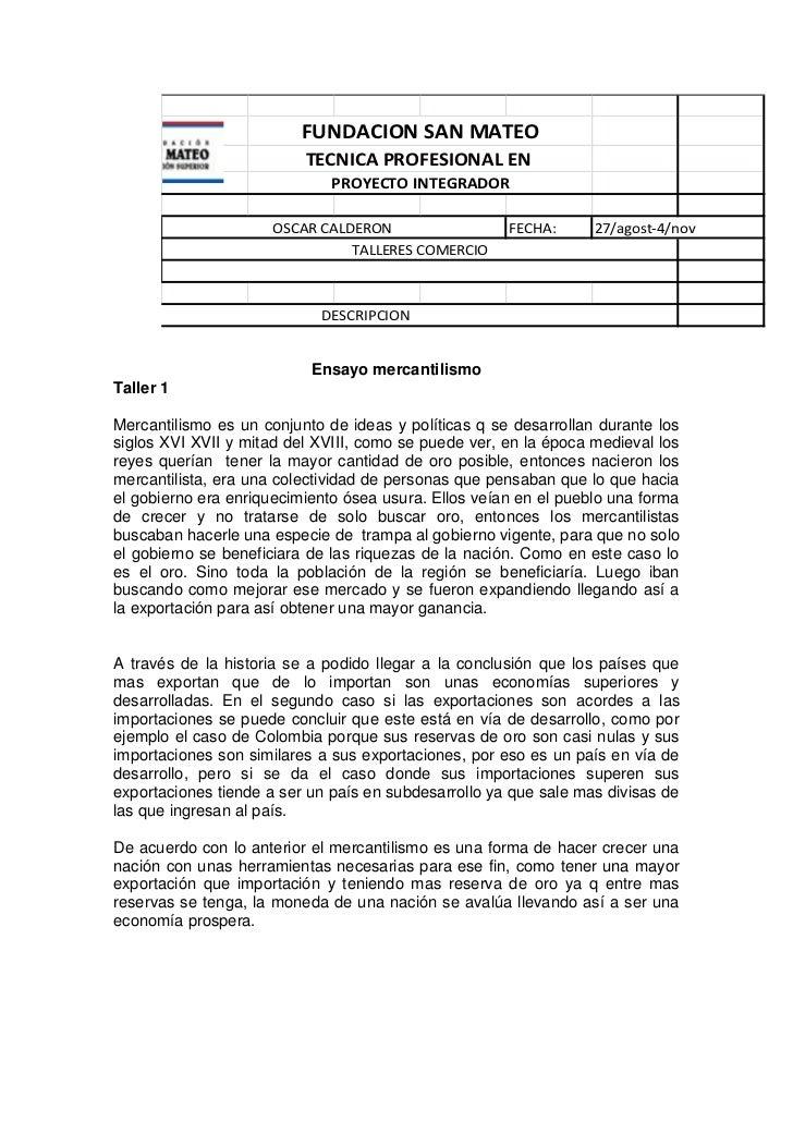 FUNDACION SAN MATEO                          TECNICA PROFESIONAL EN                              PROYECTO INTEGRADOR      ...