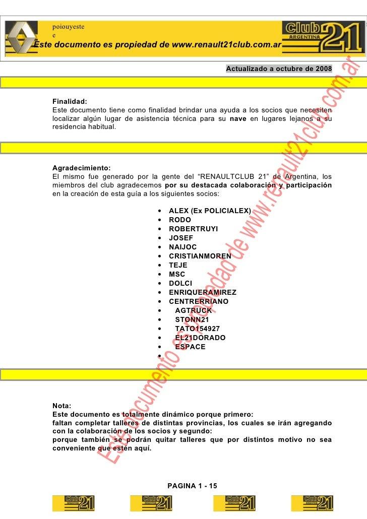 poiouyeste     e Este documento es propiedad de www.renault21club.com.ar                                                  ...