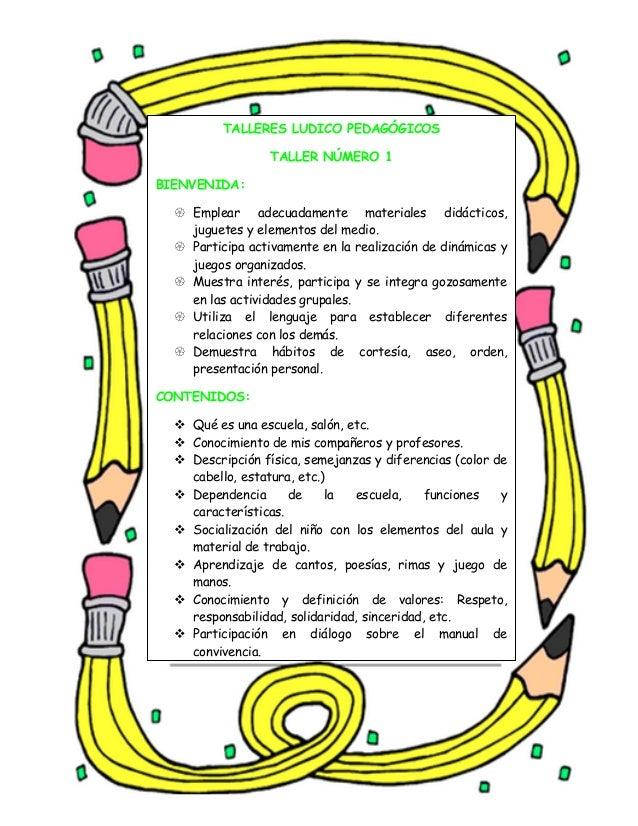 Talleres Ludico Pedagogicos 1