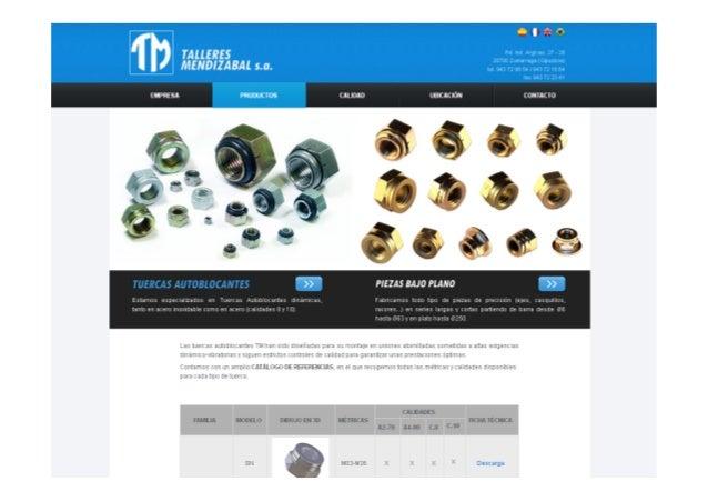 Indusmedia 2014 - Talleres mendizabal - Apretando las tuercas a Google Slide 3