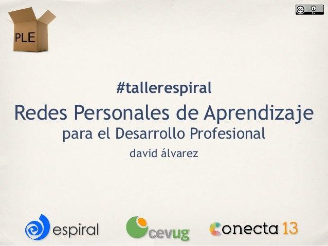#tallerespiralRedes Personales de Aprendizaje    para el Desarrollo Profesional             david álvarez