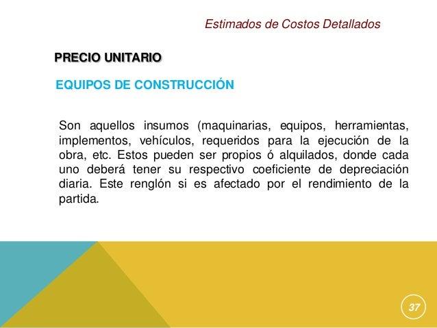 taller estimados de costos detallados2012