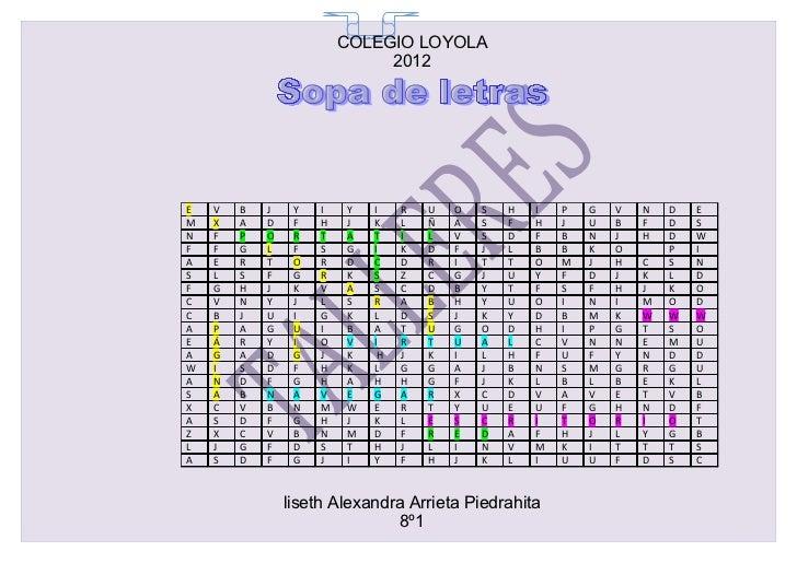 COLEGIO LOYOLA                           65                              2012E   V   B   J    Y   I   Y   I    R   U   O  ...