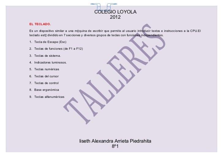 COLEGIO LOYOLA                                               65                                                  2012EL TE...