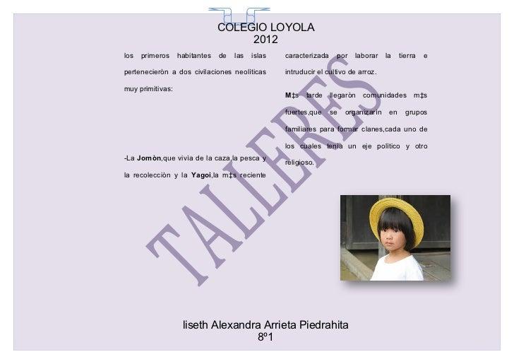 COLEGIO LOYOLA                                 65                                    2012los   primeros    habitantes   de...