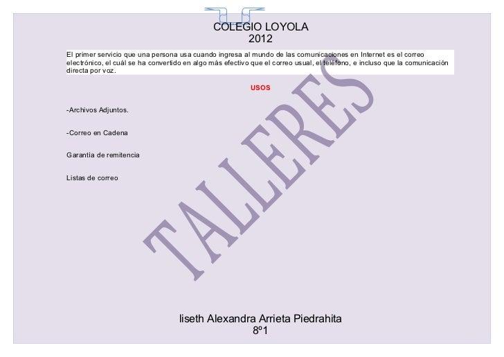 COLEGIO LOYOLA                                                65                                                   2012El ...