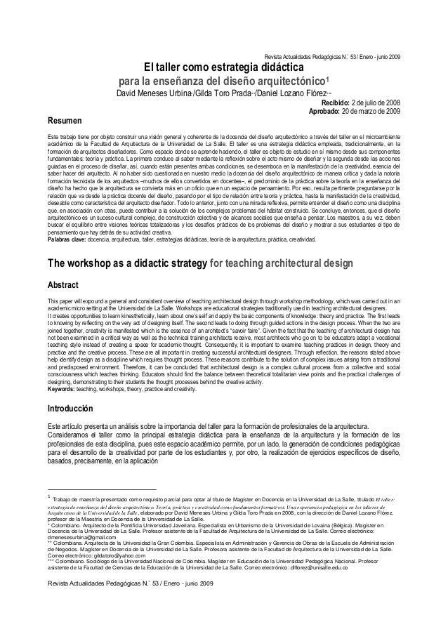 Revista Actualidades Pedagógicas N.˚ 53 / Enero - junio 2009 Revista Actualidades Pedagógicas N.˚ 53 / Enero - junio 2009 ...