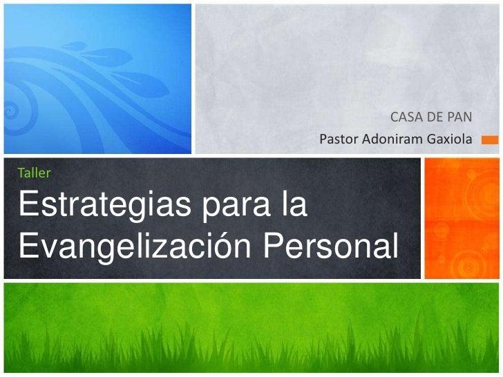 Taller estrategias de evangelización personal 4 leyes