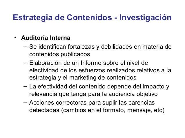 Estrategia de Contenidos - KPIs•   Total descargas contenidos por tipo y temática•   Visitas únicas•   Tiempo de permanenc...