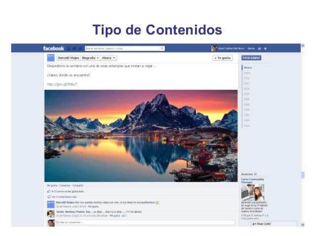 Tipo de Contenidos•   Contenido generado por el usuario     – Las marcas deben incorporar procesos de atención al cliente ...