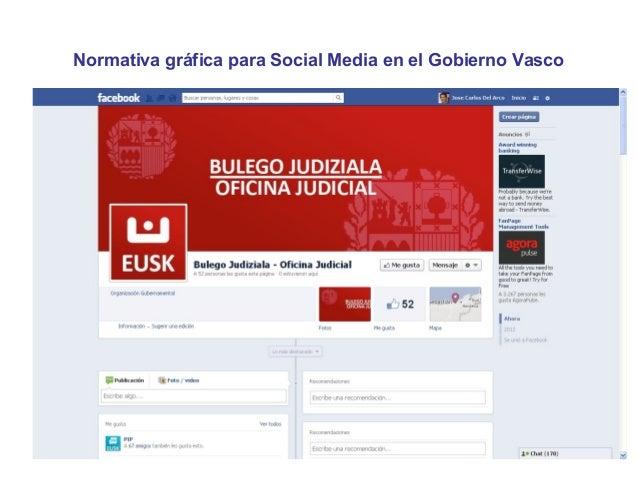 Normativa gráfica para Social Media en el Gobierno Vasco
