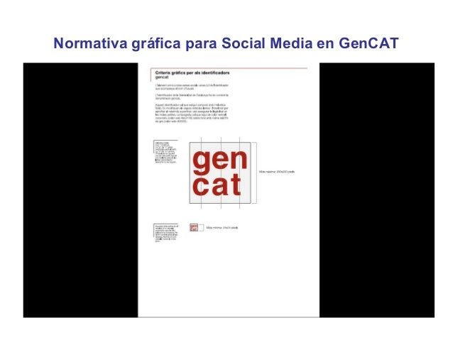 Normativa gráfica para Social Media en GenCAT