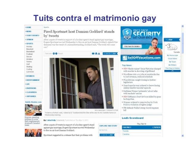 Tuits contra el matrimonio gay