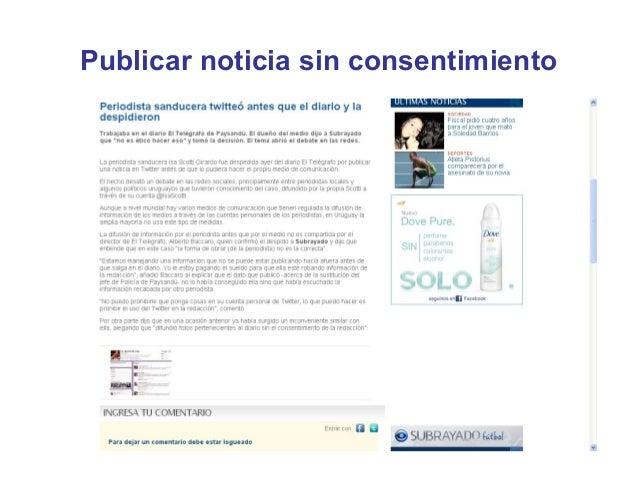 Publicar noticia sin consentimiento