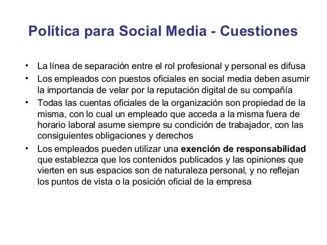 Política para Social Media - Estructura
