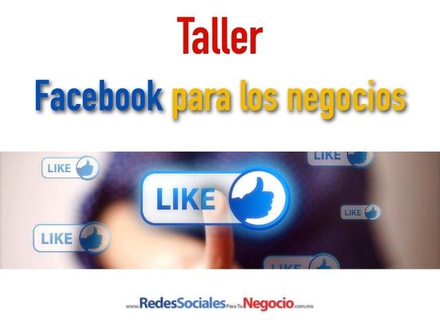 Taller Facebook para los negocios