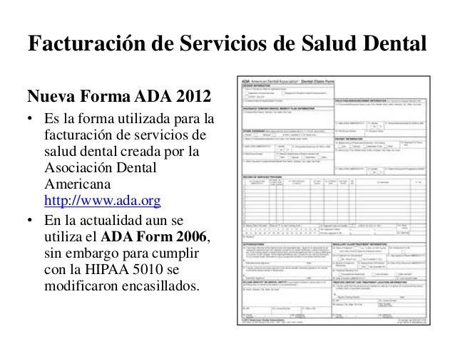 Taller Facturación de Servicios Dentales