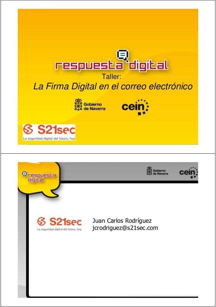 Taller:La Firma Digital en el correo electrónico