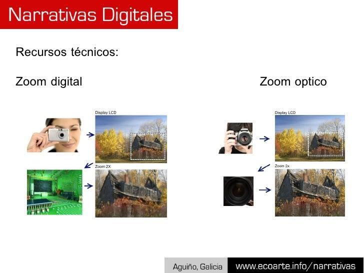 Recursos técnicos: Zoom digital  Zoom  optico
