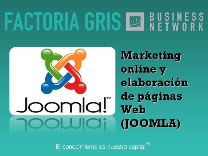 Marketing online y elaboración de páginas Web (JOOMLA)‏