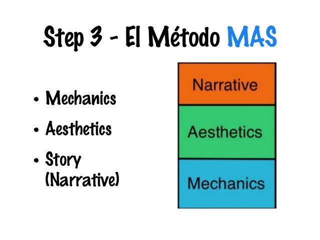 Step 3 - El Método MAS • Mechanics • Aesthetics • Story (Narrative)