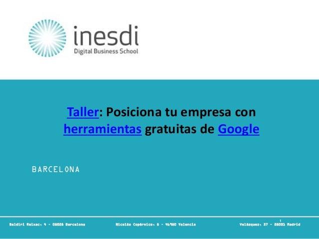 1 Técnico en Community Management y Redes Sociales © inesdi 2010 © Nombre Apellido 1 BARCELONA Baldiri Reixac, 4 – 08028 B...