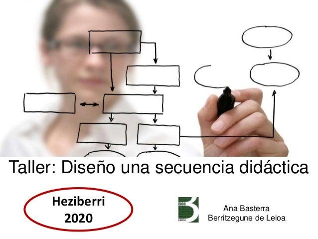 Ana Basterra Berritzegune de Leioa Taller: Diseño una secuencia didáctica Heziberri 2020