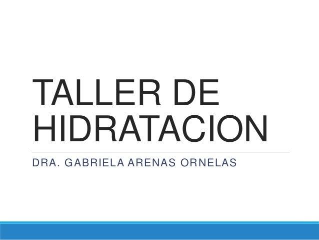 TALLER DEHIDRATACIONDRA. GABRIELA ARENAS ORNELAS