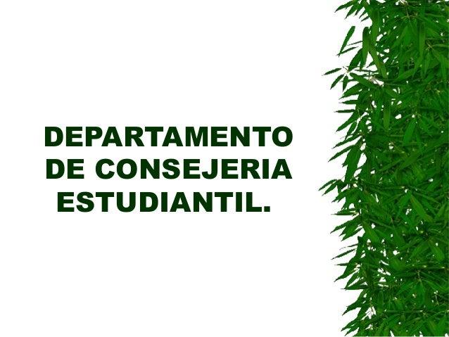 DEPARTAMENTO DE CONSEJERIA ESTUDIANTIL.