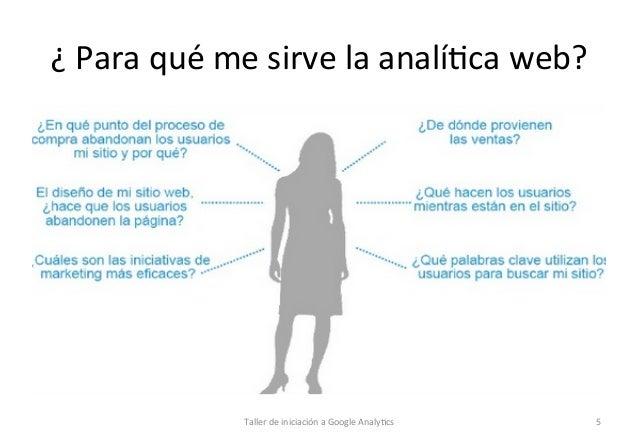 ¿  Para  qué  me  sirve  la  analí1ca  web?      Taller  de  iniciación  a  Google  Analy1cs ...