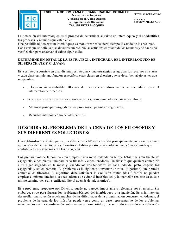 ESCUELA COLOMBIANA DE CARRERAS INDUSTRIALES                                                                               ...