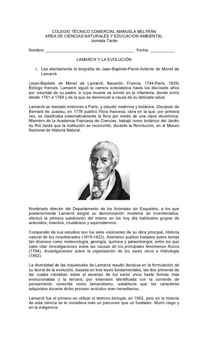COLEGIO TÉCNICO COMERCIAL MANUELA BELTRÁN         AREA DE CIENCIAS NATURALES Y EDUCACION AMBIENTAL                        ...