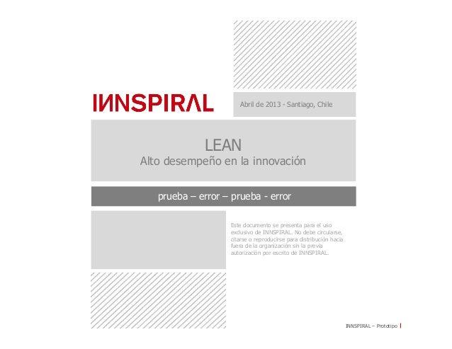 INNSPIRAL – PrototipoEste documento se presenta para el usoexclusivo de INNSPIRAL. No debe circularse,citarse o reproducir...