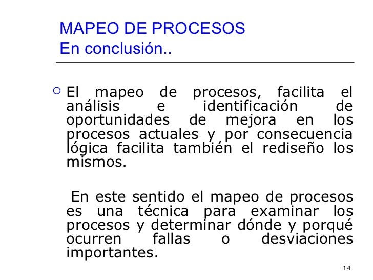Taller mapeo de procesos for Mapeo de procesos ejemplo