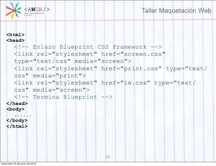Taller maquetacion web 19 mircoles 16 de junio de 2010 20 malvernweather Images