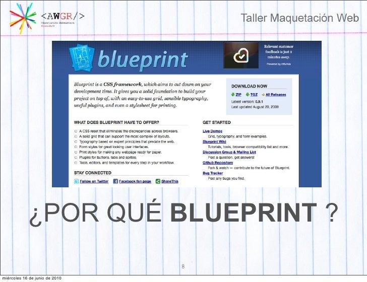 Taller maquetacion web 7 mircoles 16 de junio de 2010 8 por qu blueprint malvernweather Gallery