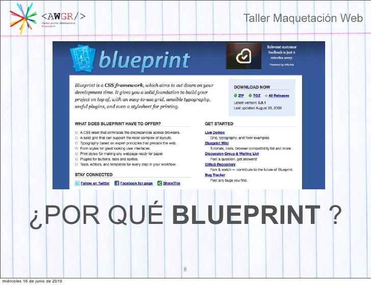 Taller maquetacion web 7 mircoles 16 de junio de 2010 8 por qu blueprint malvernweather Images