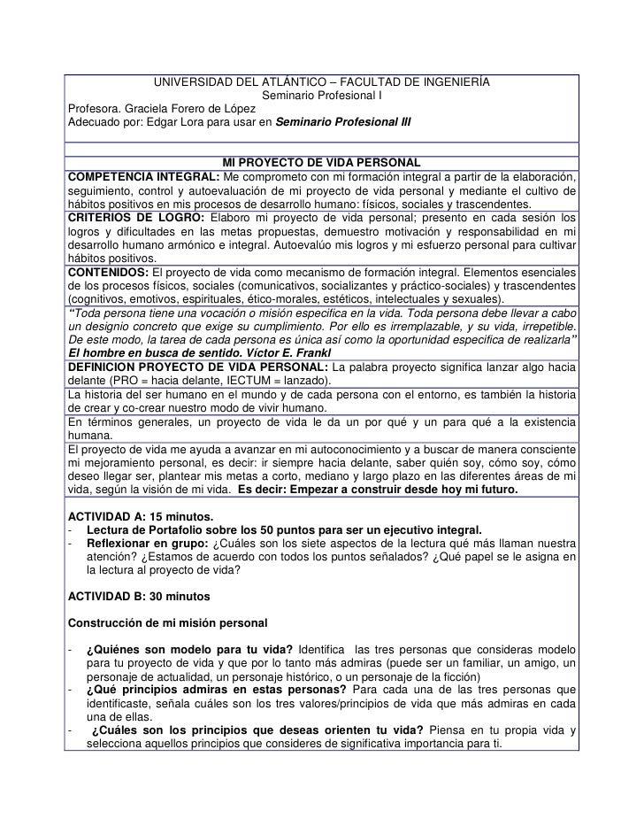 UNIVERSIDAD DEL ATLÁNTICO – FACULTAD DE INGENIERÍA                                     Seminario Profesional I Profesora. ...