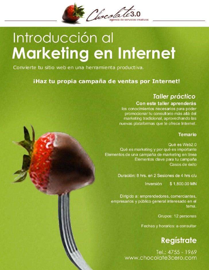 Taller de Introducción al Marketing Online