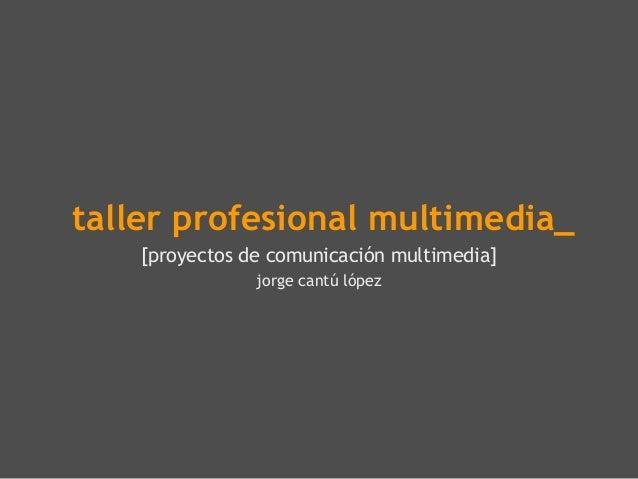 taller profesional multimedia_[proyectos de comunicación multimedia]jorge cantú lópez