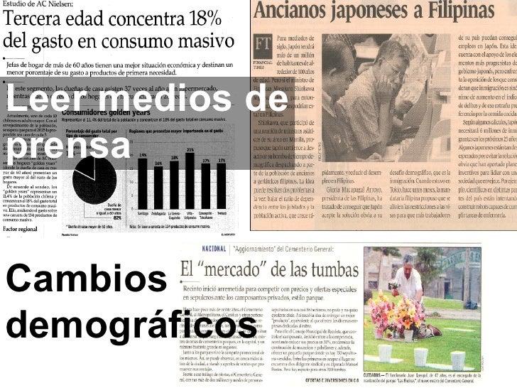 Cambios demográficos Leer medios de prensa