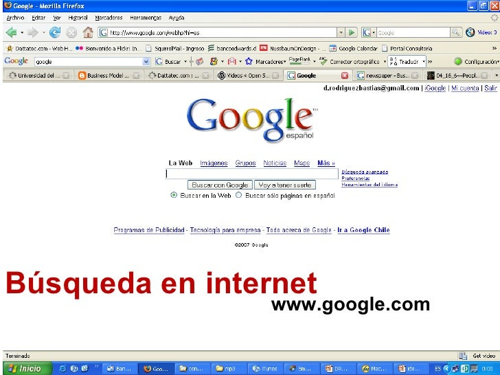 Búsqueda en internet www.google.com