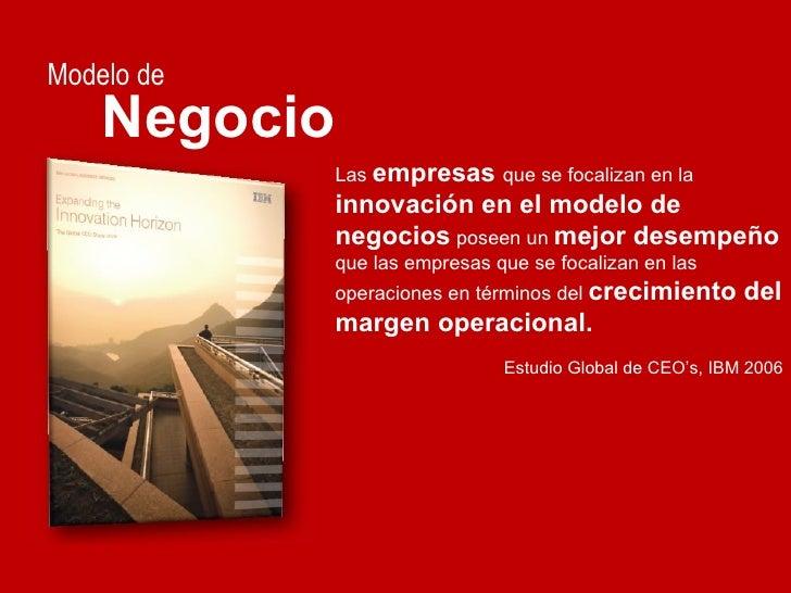 Modelo de Negocio Las  empresas   que se focalizan en la  innovación en el modelo de negocios  poseen un  mejor desempeño ...