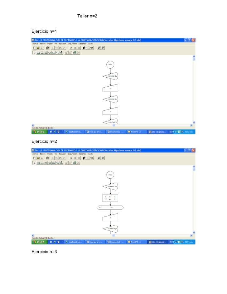 Taller n=2Ejercicio n=1Ejercicio n=2Ejercicio n=3